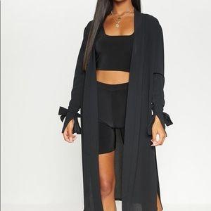 Classic black duster coat